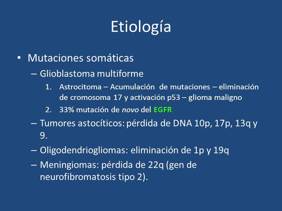 Etiología Mutaciones somáticas Glioblastoma multiforme