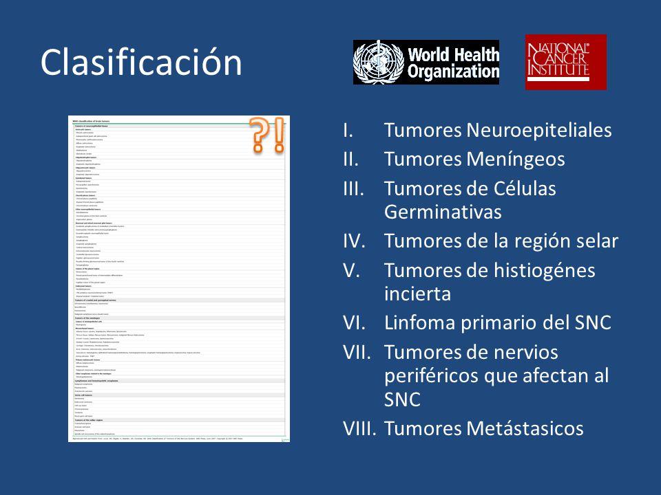 ! Clasificación Tumores Neuroepiteliales Tumores Meníngeos