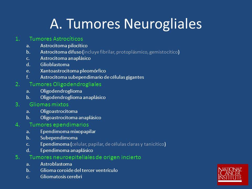 A. Tumores Neurogliales