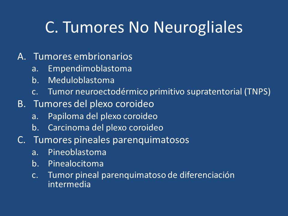 C. Tumores No Neurogliales