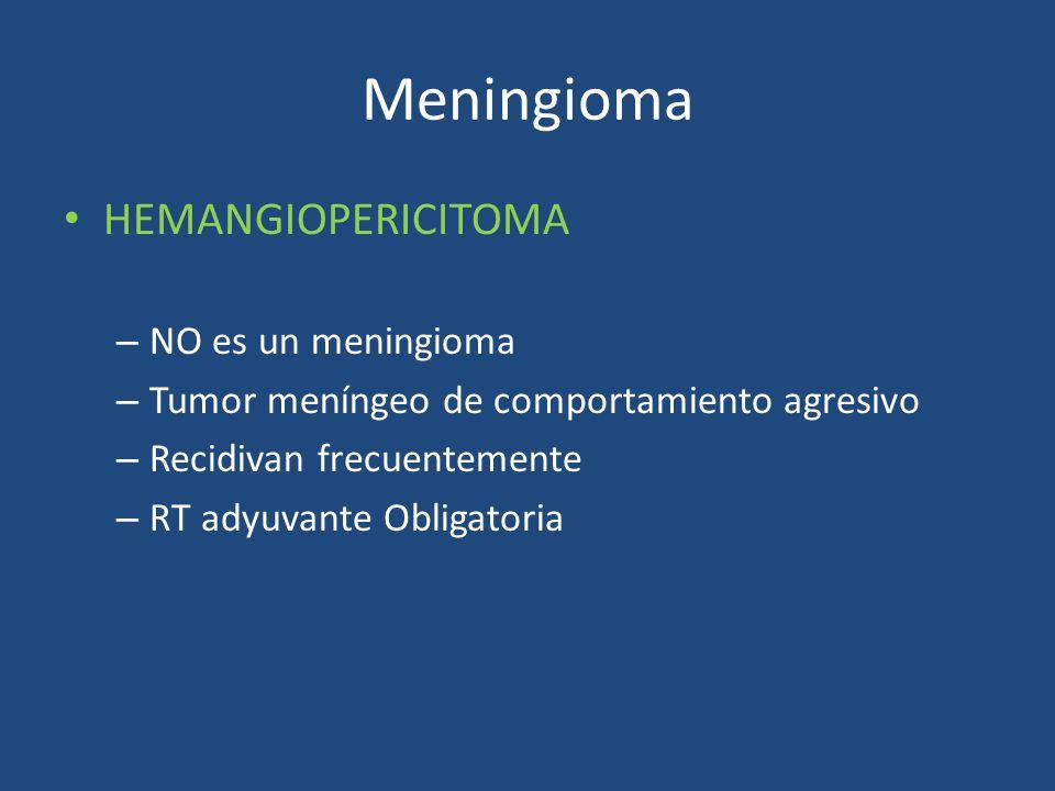 Meningioma HEMANGIOPERICITOMA NO es un meningioma