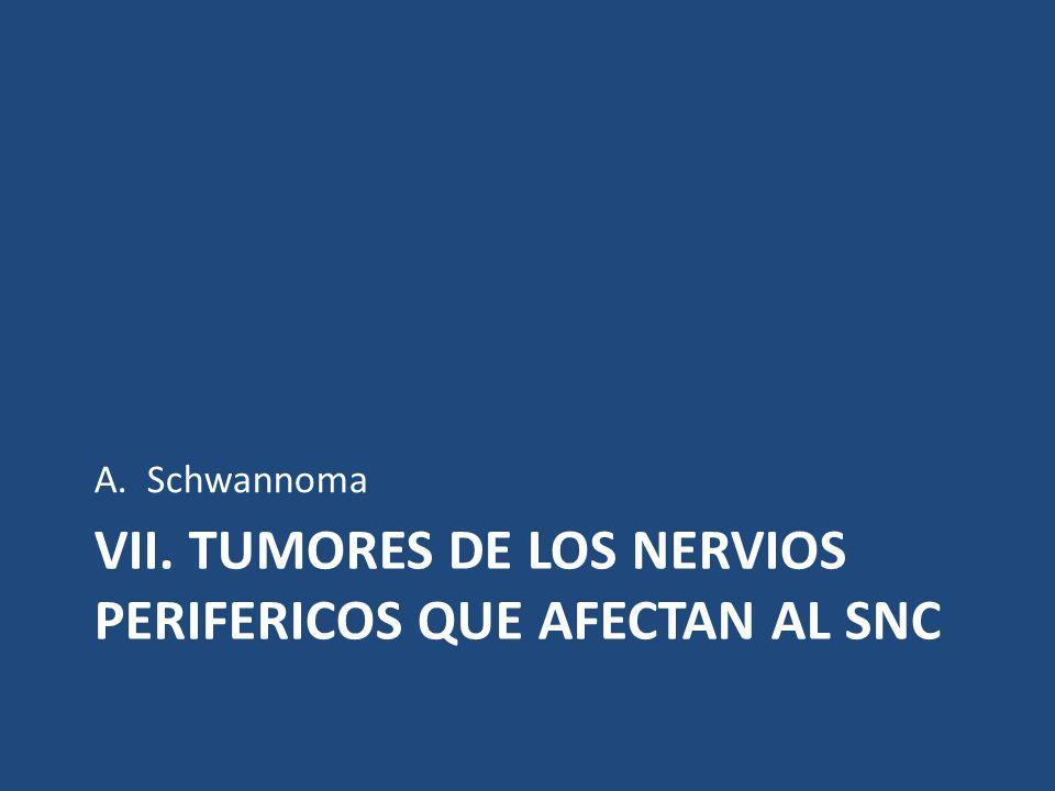 VII. TUMORES DE LOS NERVIOS PERIFERICOS QUE AFECTAN AL SNC