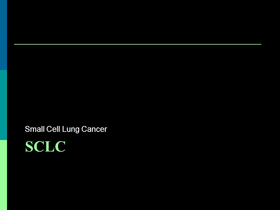 Small Cell Lung Cancer SCLC