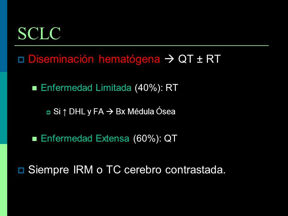 SCLC Diseminación hematógena  QT ± RT
