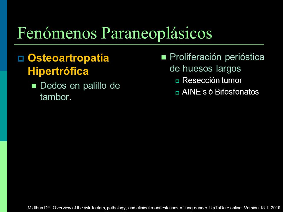 Fenómenos Paraneoplásicos