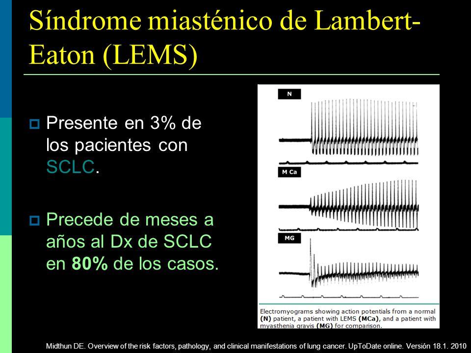 Síndrome miasténico de Lambert-Eaton (LEMS)