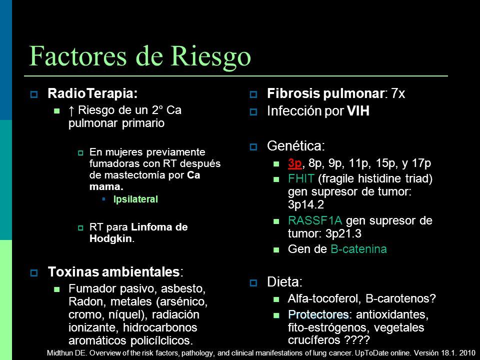 Factores de Riesgo RadioTerapia: Toxinas ambientales: