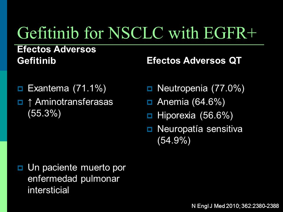 Gefitinib for NSCLC with EGFR+