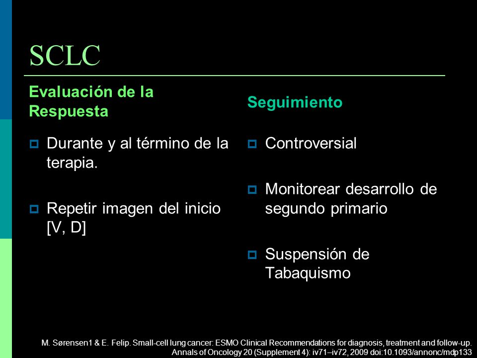 SCLC Seguimiento Evaluación de la Respuesta