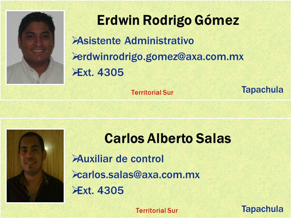 Erdwin Rodrigo Gómez Carlos Alberto Salas
