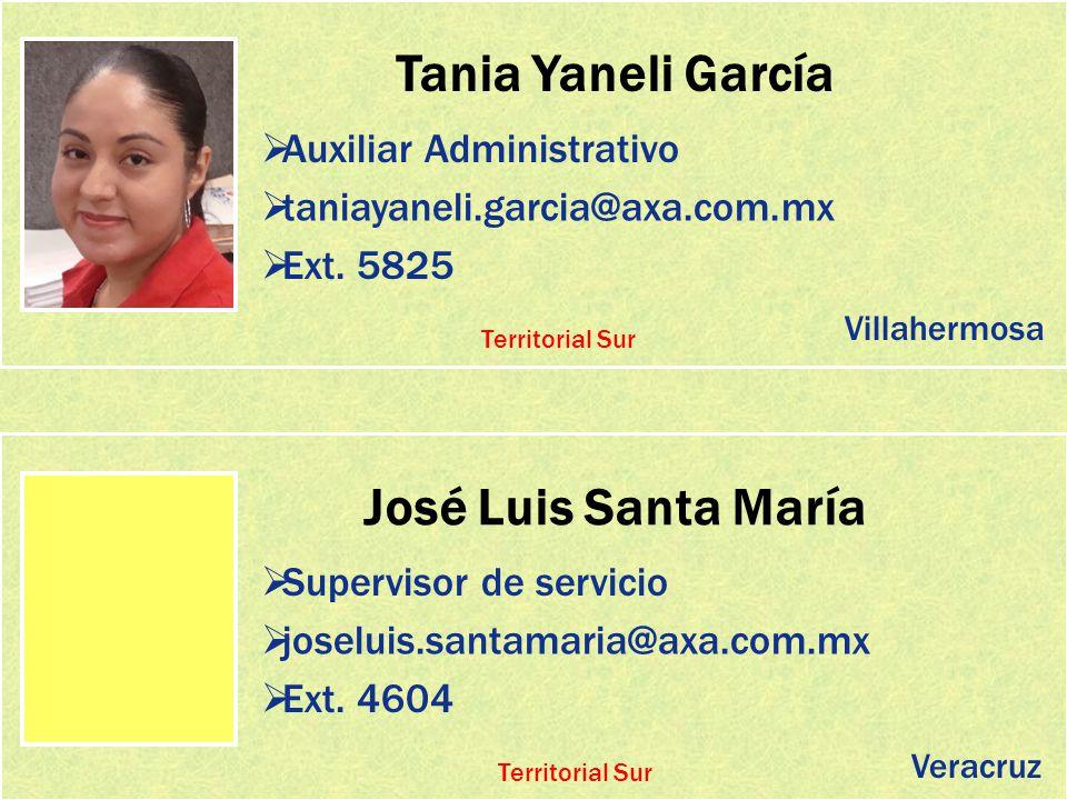 Tania Yaneli García José Luis Santa María