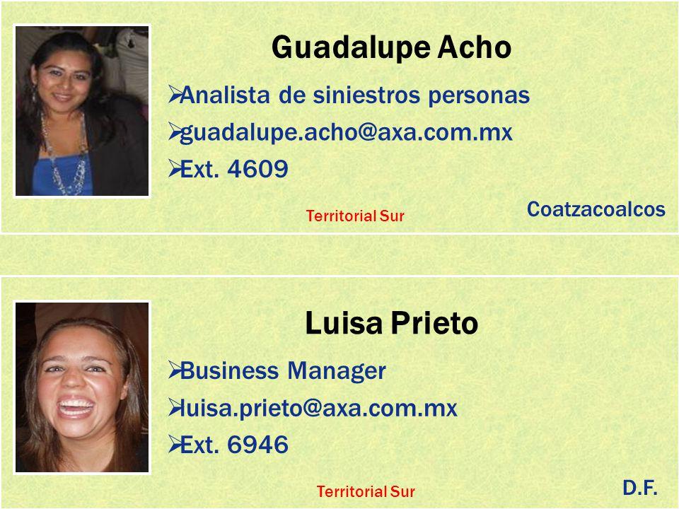 Guadalupe Acho Luisa Prieto