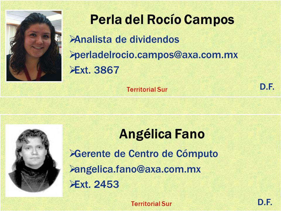 Perla del Rocío Campos Angélica Fano