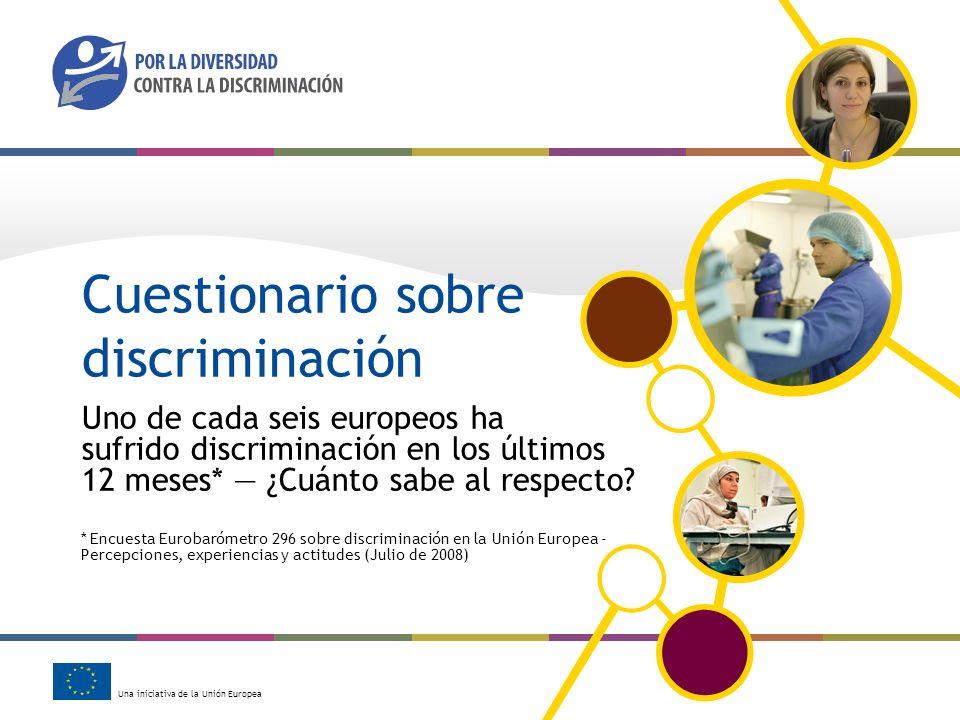 Cuestionario sobre discriminación