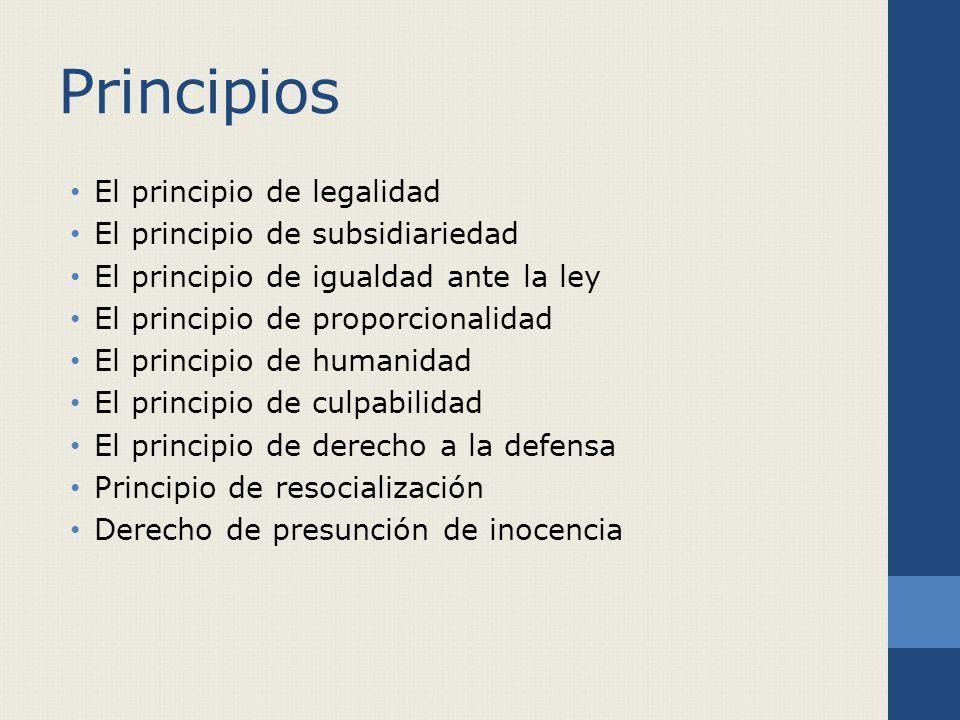 Principios El principio de legalidad El principio de subsidiariedad