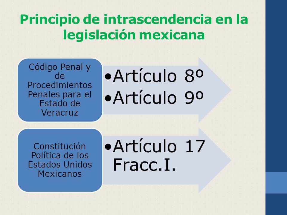 Principio de intrascendencia en la legislación mexicana