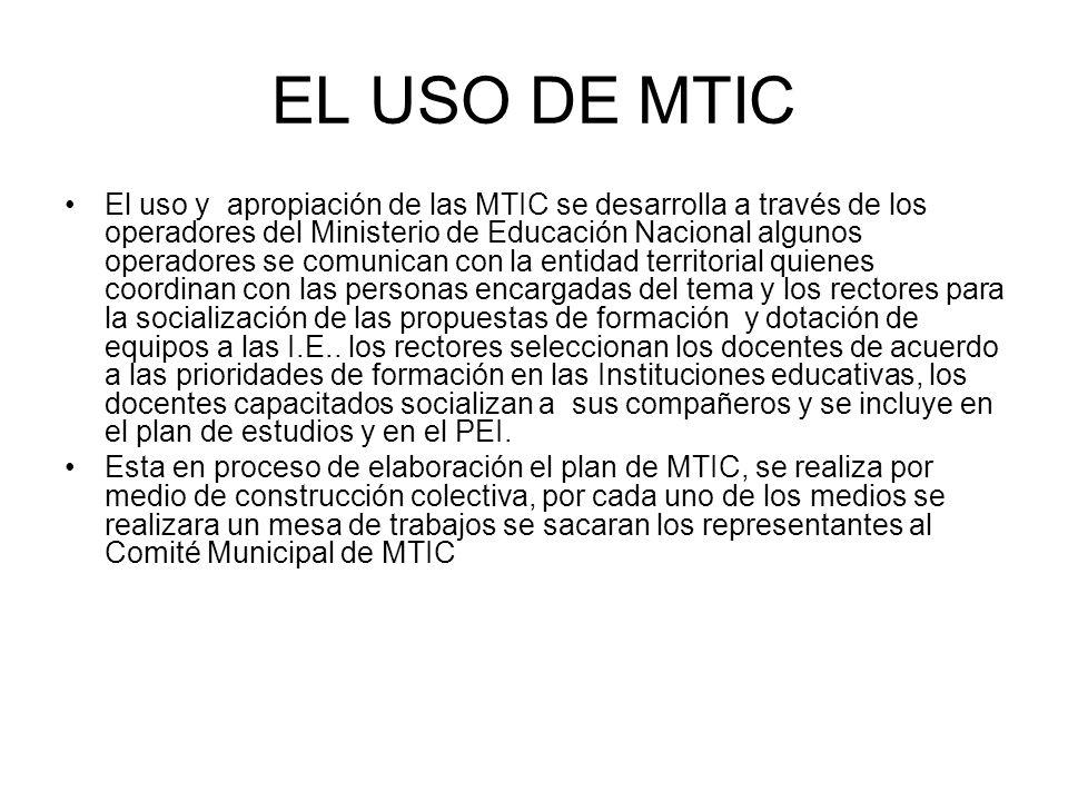 EL USO DE MTIC
