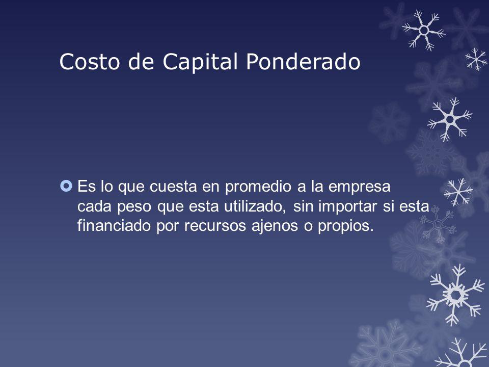 Costo de Capital Ponderado
