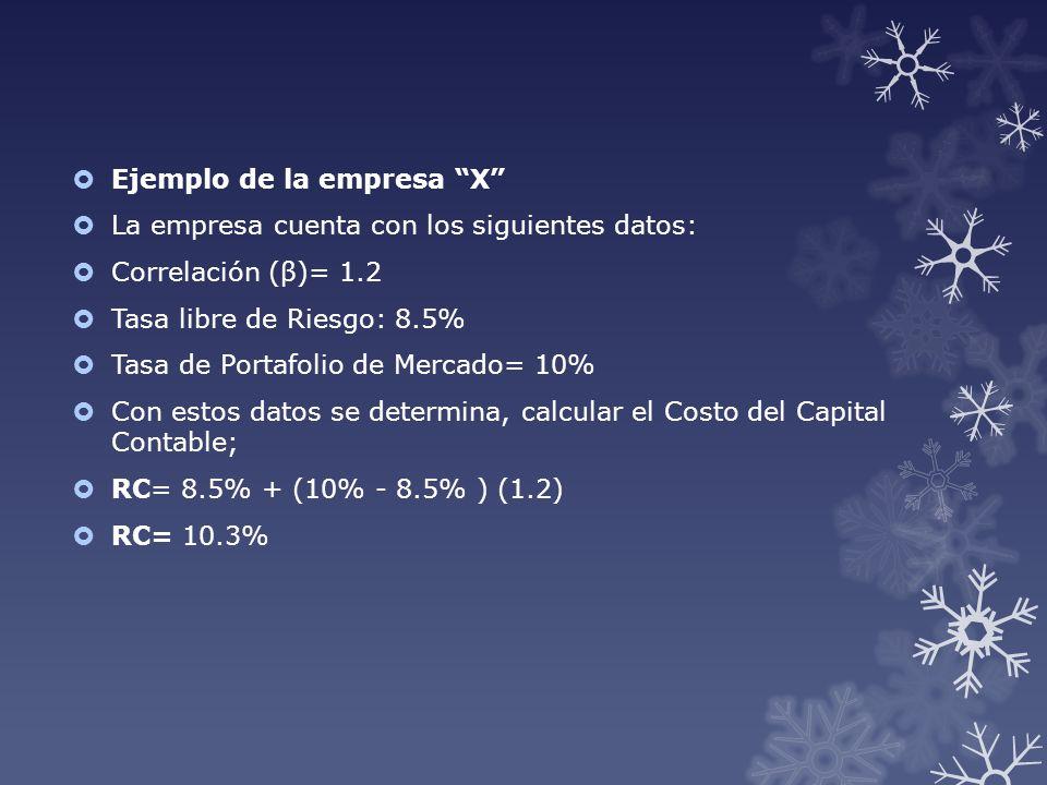 Ejemplo de la empresa X
