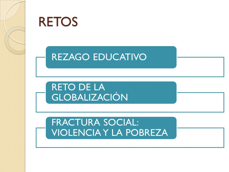 RETOS REZAGO EDUCATIVO RETO DE LA GLOBALIZACIÓN