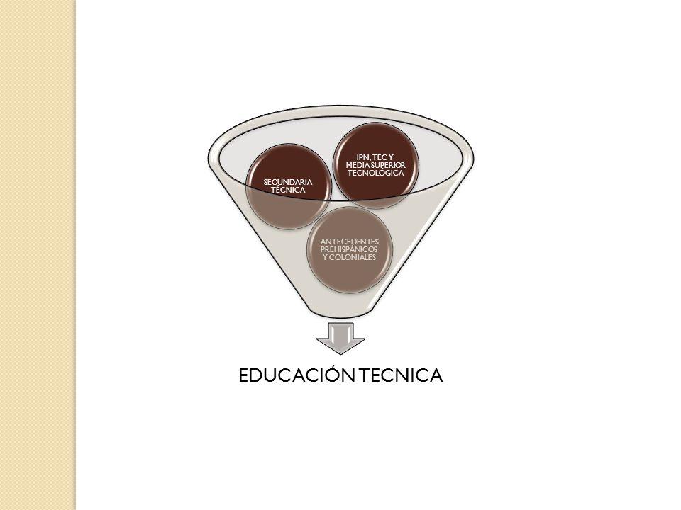 EDUCACIÓN TECNICA IPN, TEC Y MEDIA SUPERIOR TECNOLÓGICA