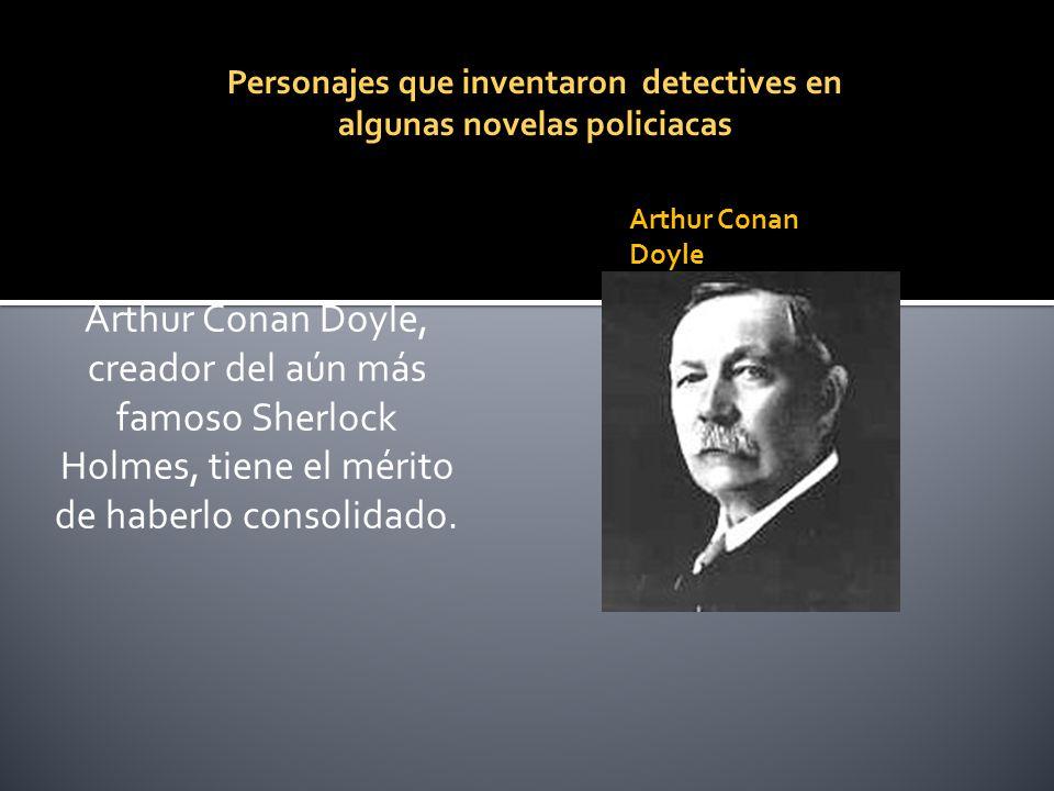 Personajes que inventaron detectives en algunas novelas policiacas