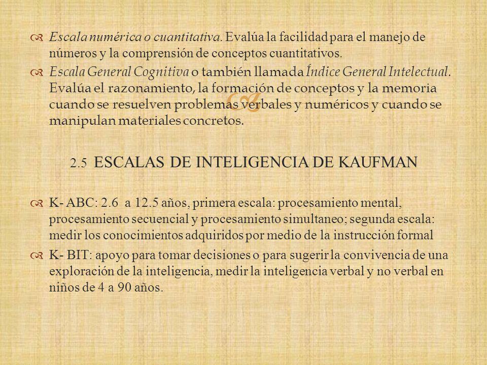 2.5 ESCALAS DE INTELIGENCIA DE KAUFMAN