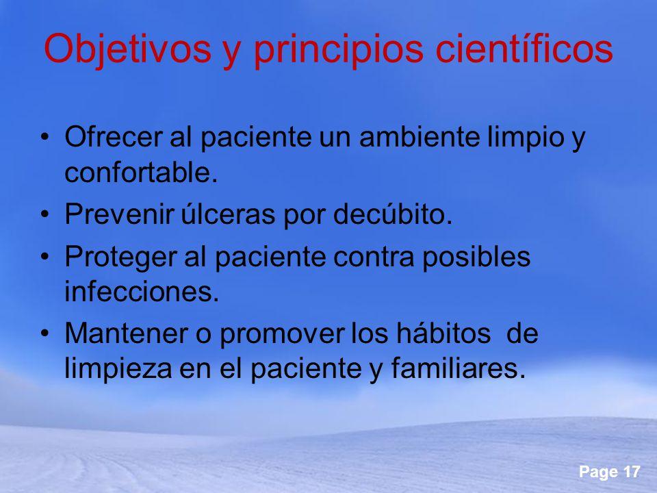 Objetivos y principios científicos