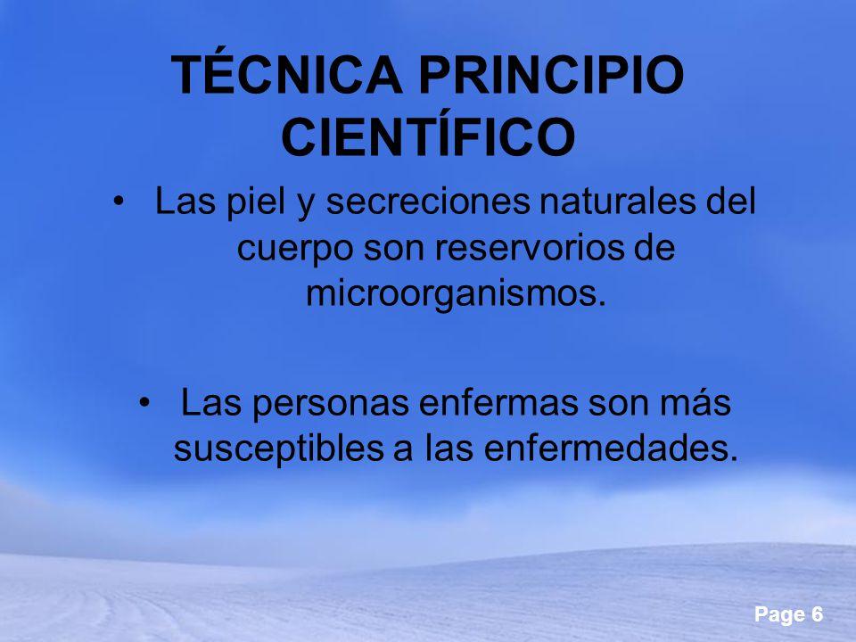 TÉCNICA PRINCIPIO CIENTÍFICO