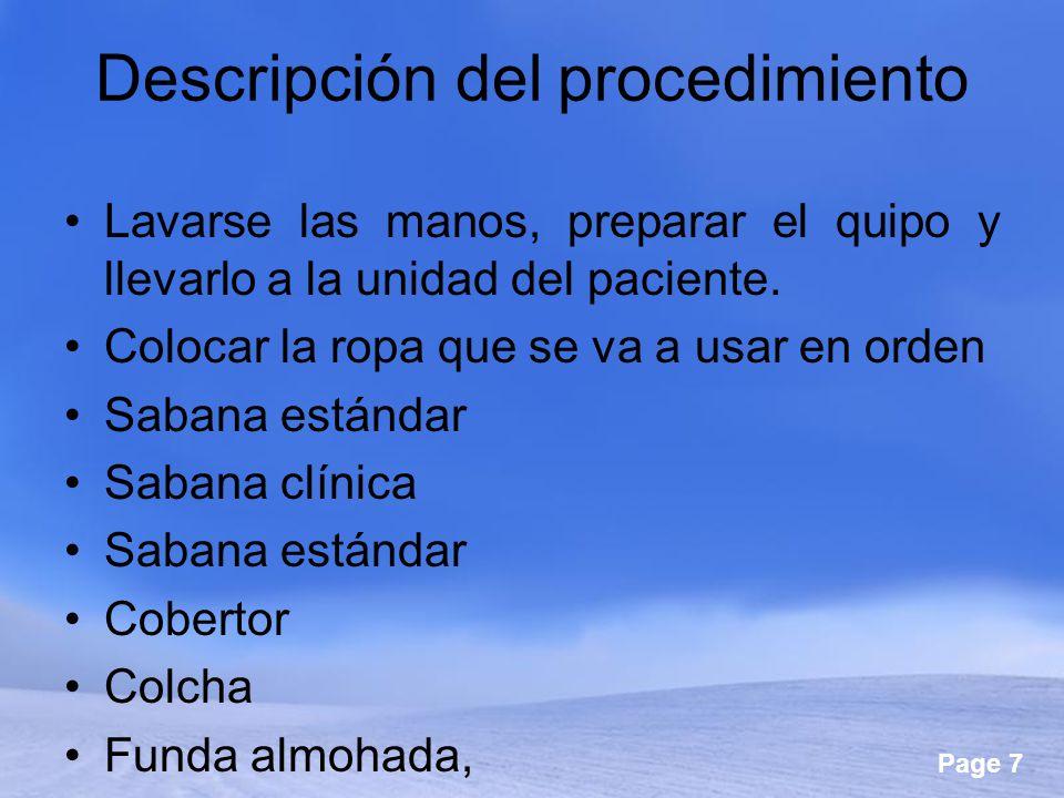 Descripción del procedimiento