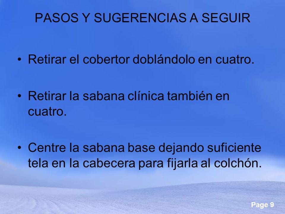 PASOS Y SUGERENCIAS A SEGUIR