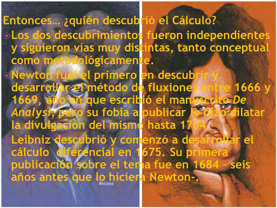Entonces… ¿quién descubrió el Cálculo