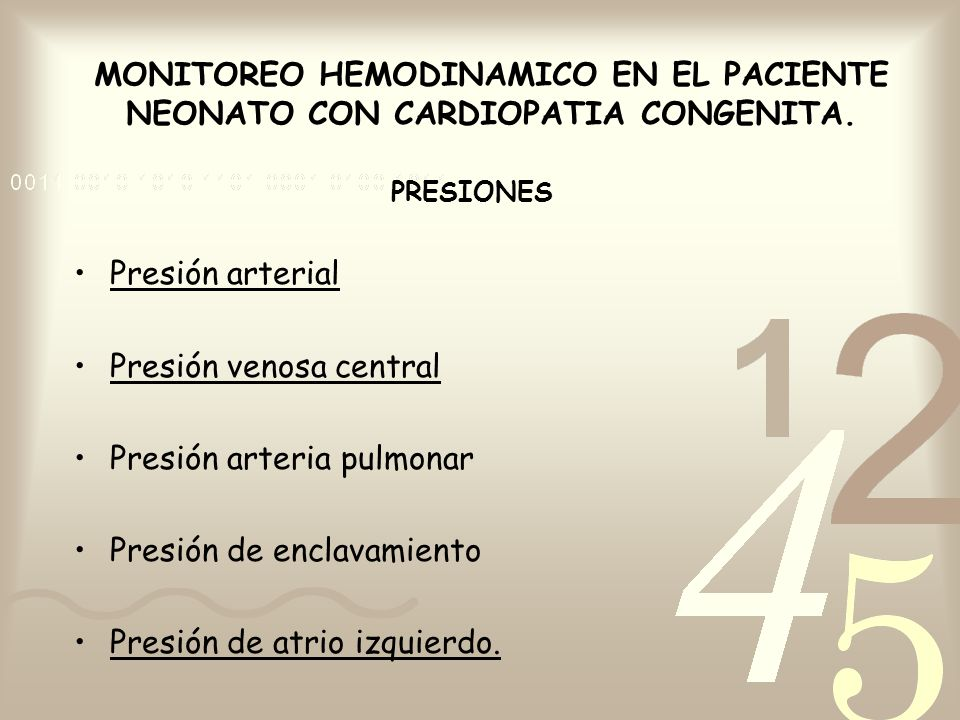 Presión venosa central Presión arteria pulmonar