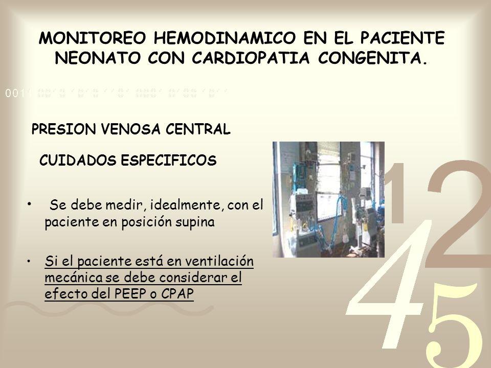 PRESION VENOSA CENTRAL CUIDADOS ESPECIFICOS