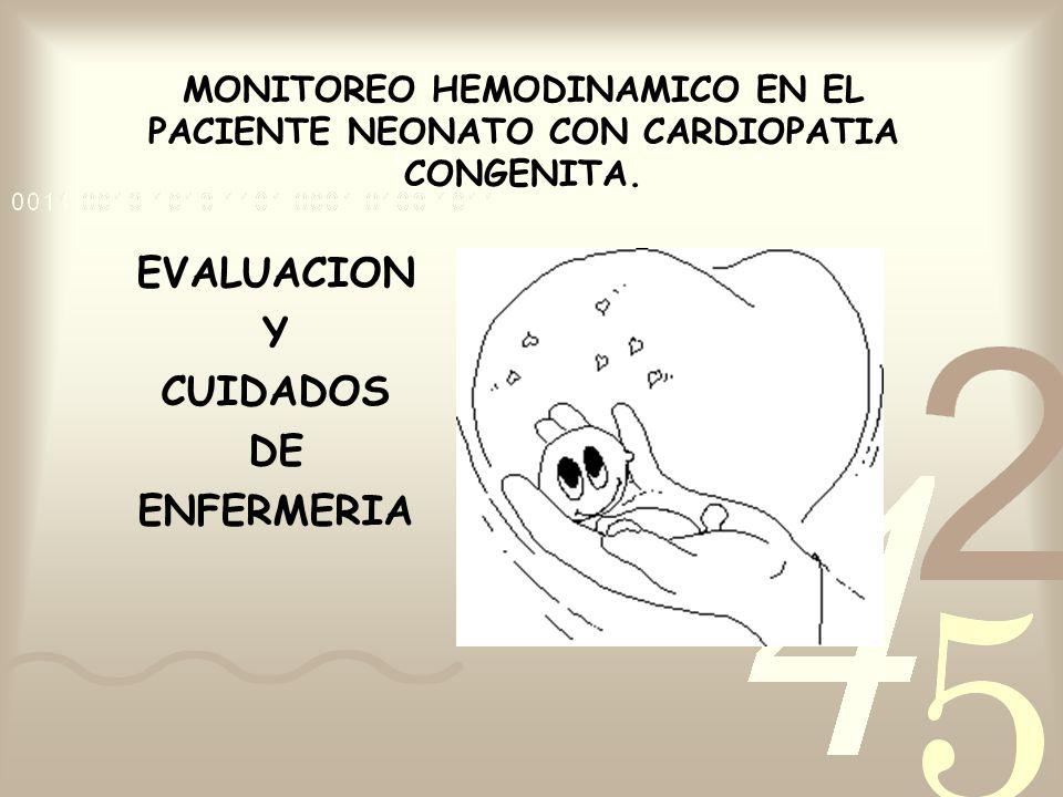 EVALUACION Y CUIDADOS DE ENFERMERIA