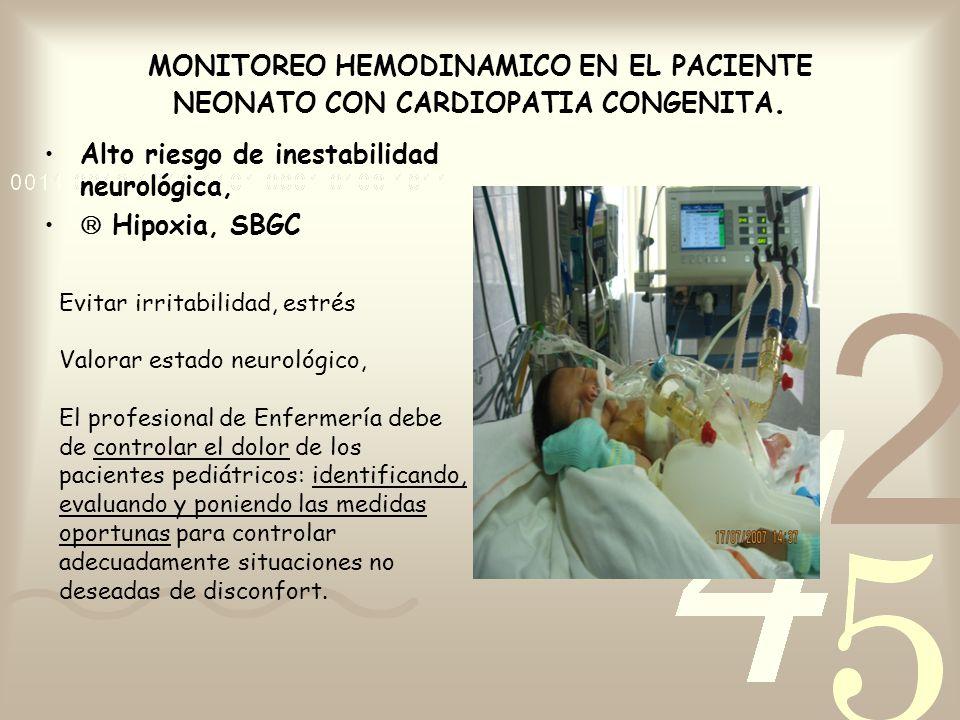 Alto riesgo de inestabilidad neurológica,  Hipoxia, SBGC