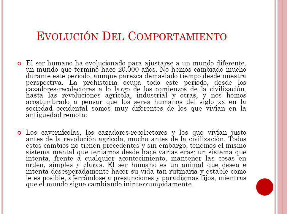 Evolución Del Comportamiento