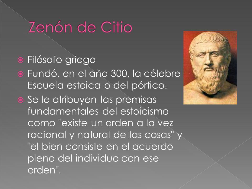 Zenón de Citio Filósofo griego