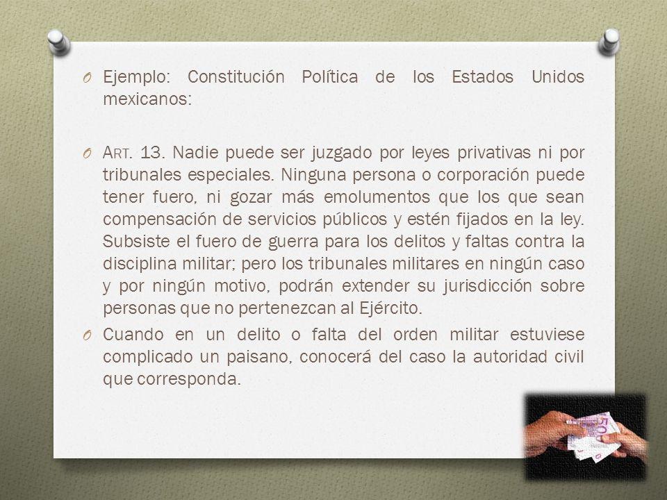 Ejemplo: Constitución Política de los Estados Unidos mexicanos: