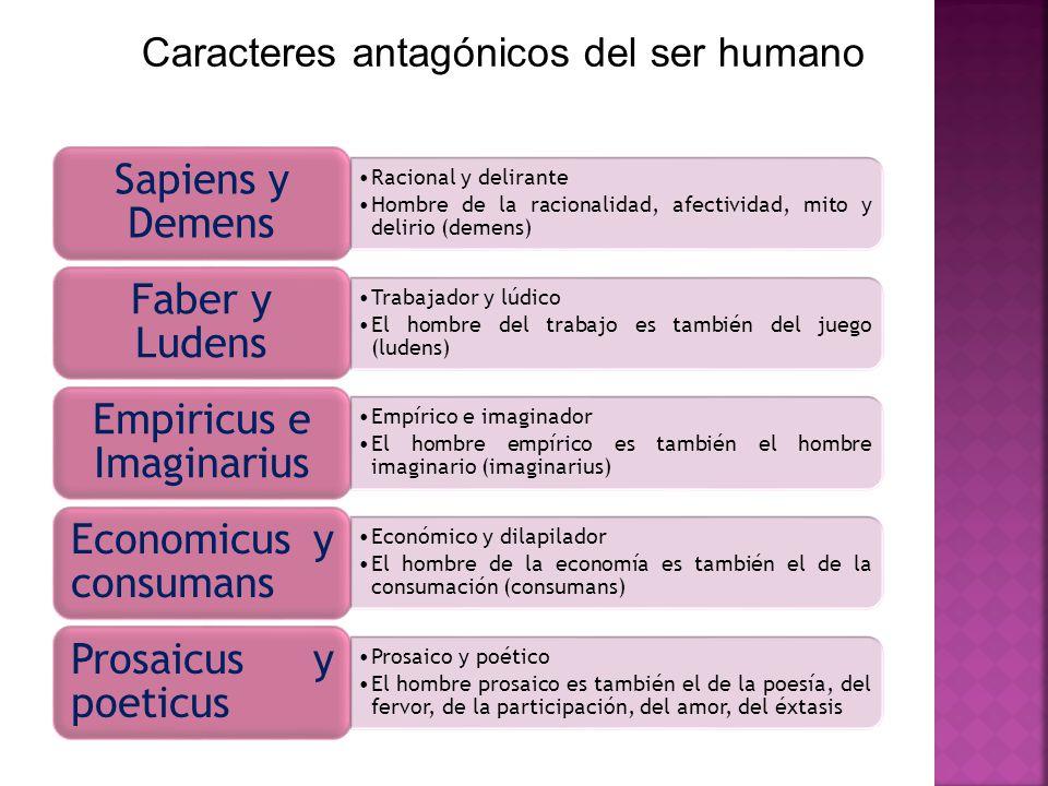 Caracteres antagónicos del ser humano