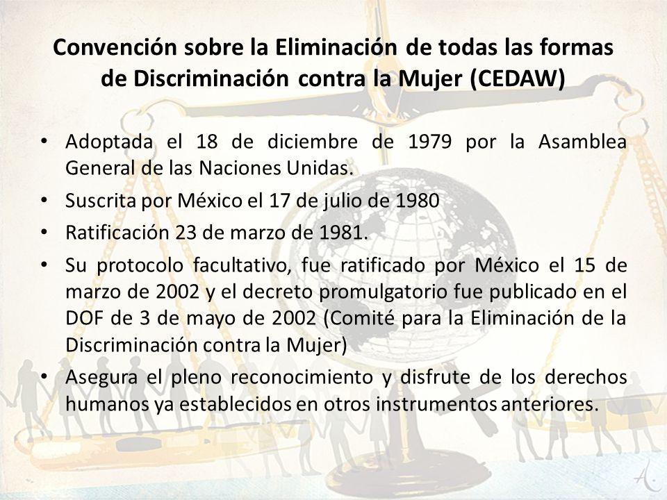 Convención sobre la Eliminación de todas las formas de Discriminación contra la Mujer (CEDAW)