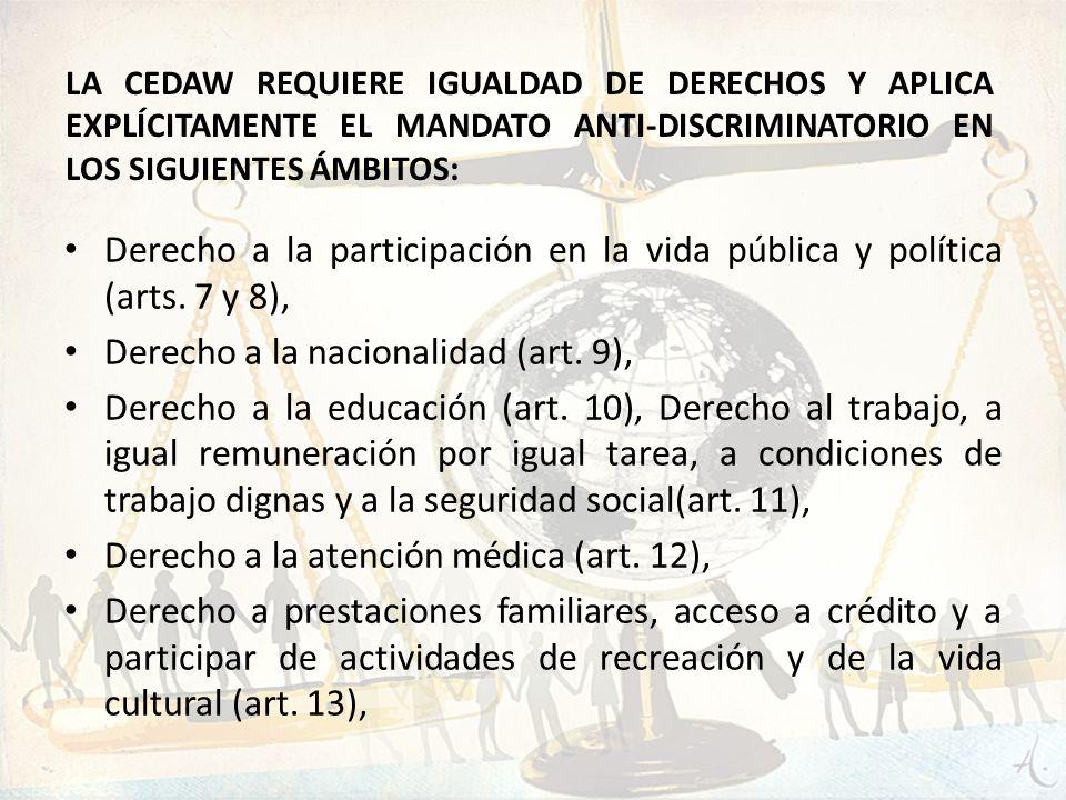 Derecho a la nacionalidad (art. 9),