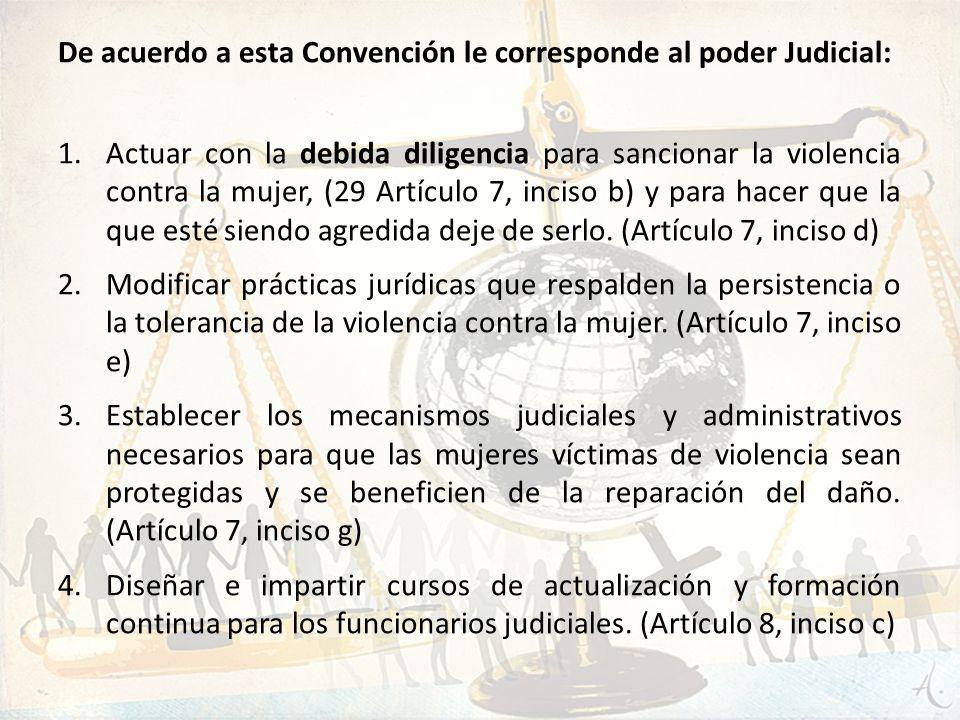 De acuerdo a esta Convención le corresponde al poder Judicial: