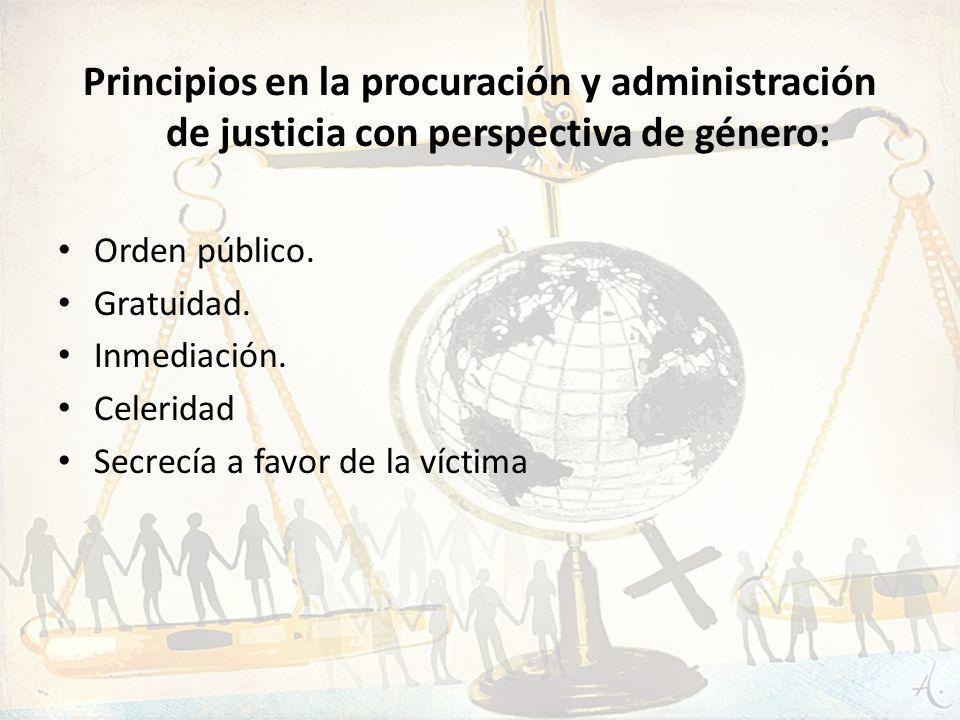 Principios en la procuración y administración de justicia con perspectiva de género: