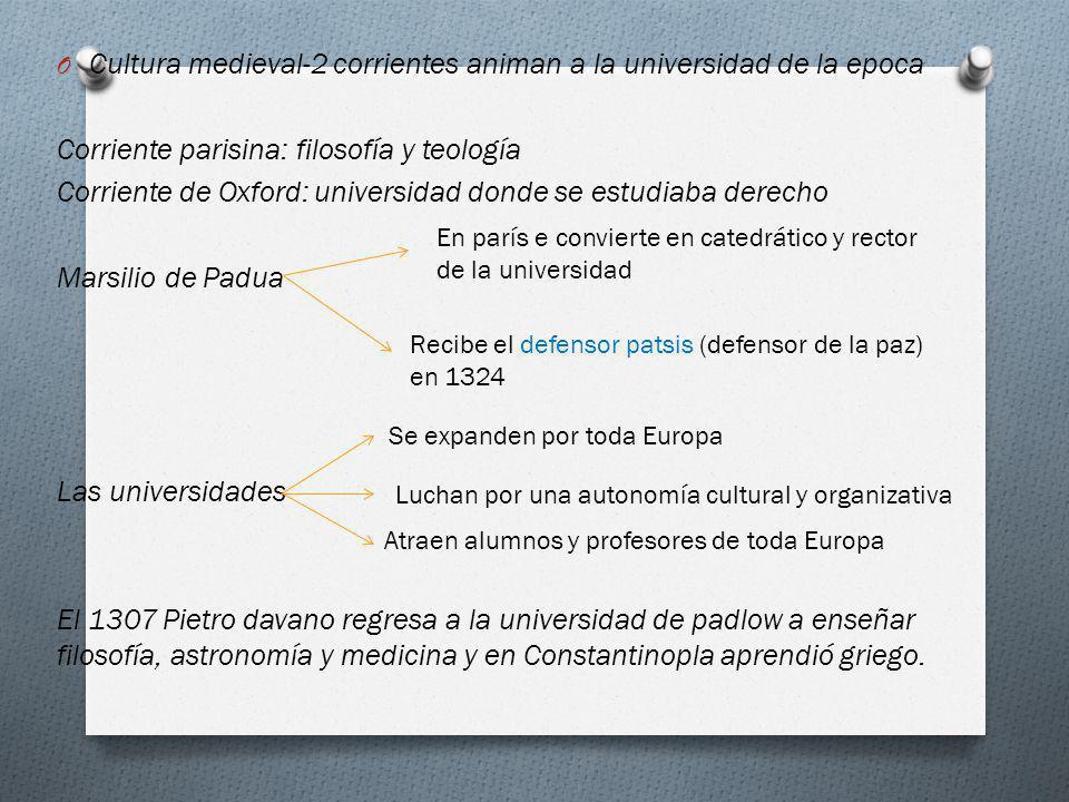 Cultura medieval-2 corrientes animan a la universidad de la epoca