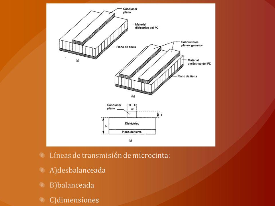 Líneas de transmisión de microcinta: