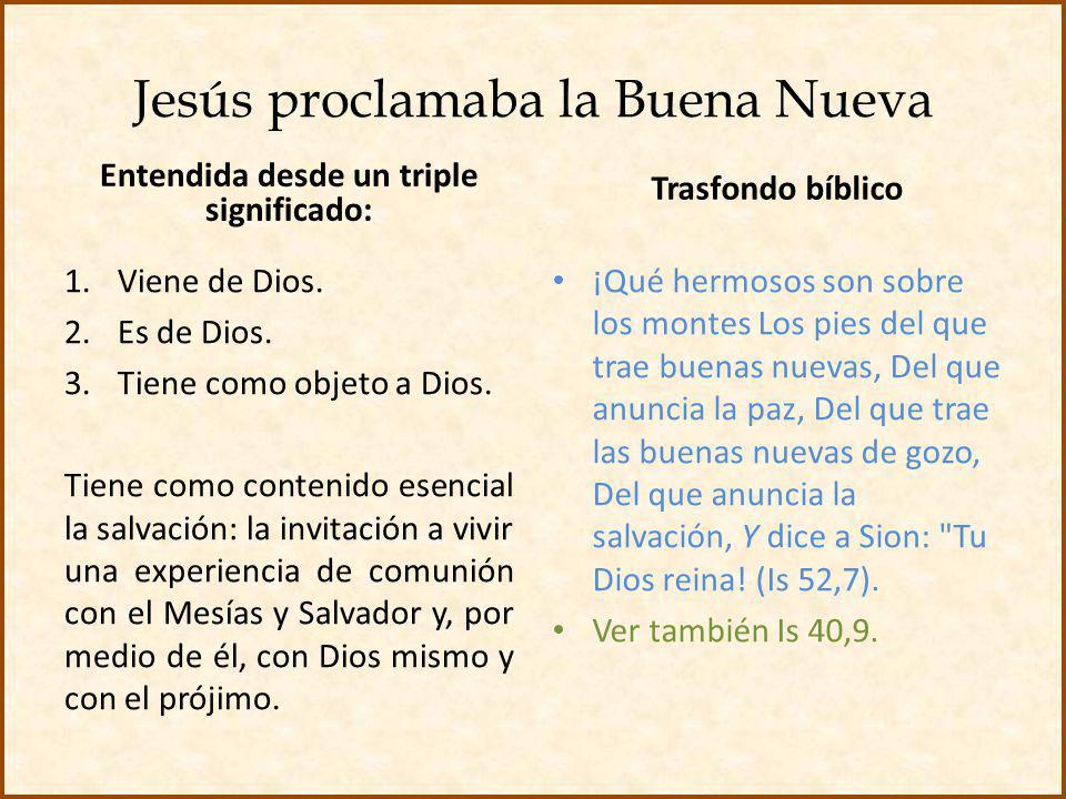 Jesús proclamaba la Buena Nueva