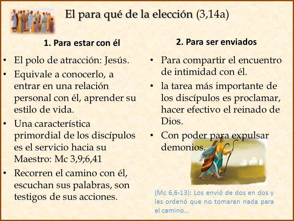 El para qué de la elección (3,14a)