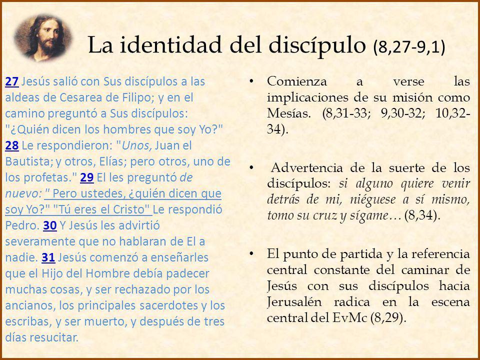 La identidad del discípulo (8,27-9,1)