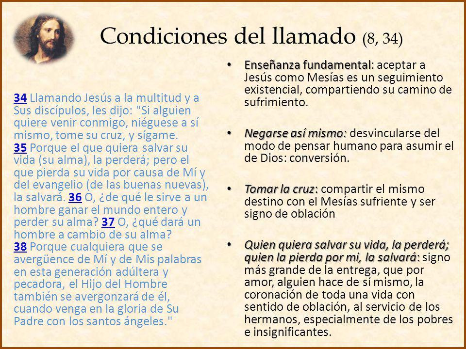Condiciones del llamado (8, 34)